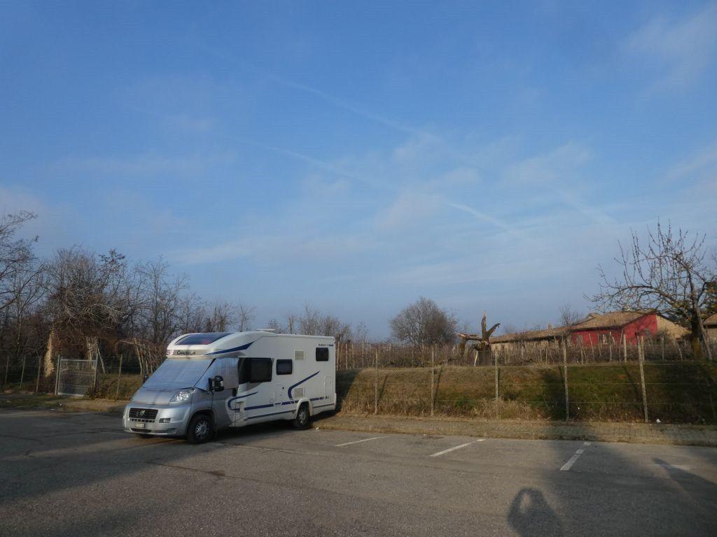 Parkplatz in Castell' Arquato